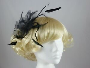 Molly and Rose Loops in Black Fascinator  61d967c2e33