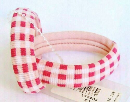 2 Stück elastische Haargummis Haarbinder Zopfgummi Haarband pink rosa weiß