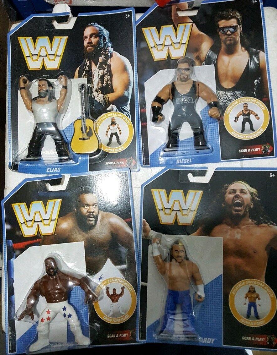 WWE MATTEL Retro Serie 10 Juego de 4 figuras Elias Juguetedariano Diesel Matt Hardy