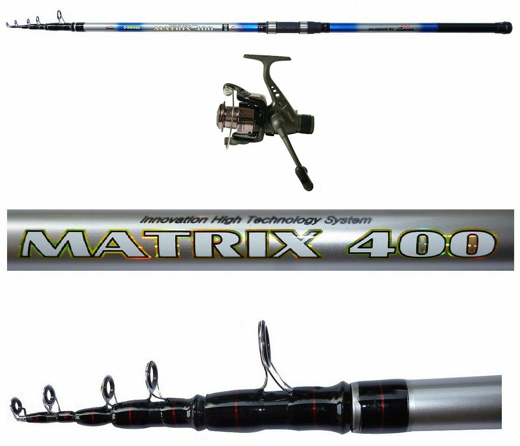 Kit canna matrix 4 mt lancio 50150g mulinello phanter pesca surfcasting fondo