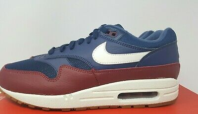 Nike Air Max 1 Mens AH8145 400 Navy Blue Team Red Sail Running Shoes Size 9 | eBay