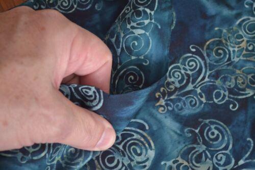Hoffman//G-2241-21 Teal B520 By 1//2 Yd Blue on Blue Batik Indonesia