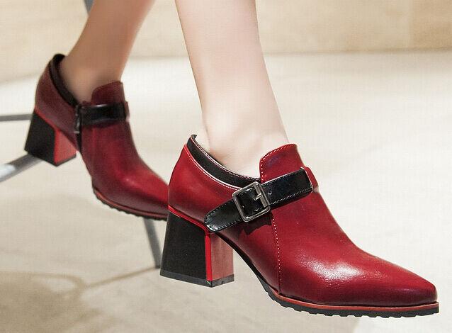 botas zapatos de mujer mujer mujer con plataforma rojo negro talón cuadrado 6 cm 8516  ordene ahora los precios más bajos