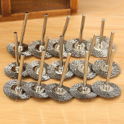 20pcs Stainless Steel Wire Wheel Brushes Cup For Grinder Dremel Rotary Tool 25mm