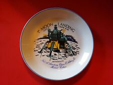 APOLLO 1st MOON LANDING CROWN DUCAL  PLATE NEIL ARMSTRONG ENGLAND 1969