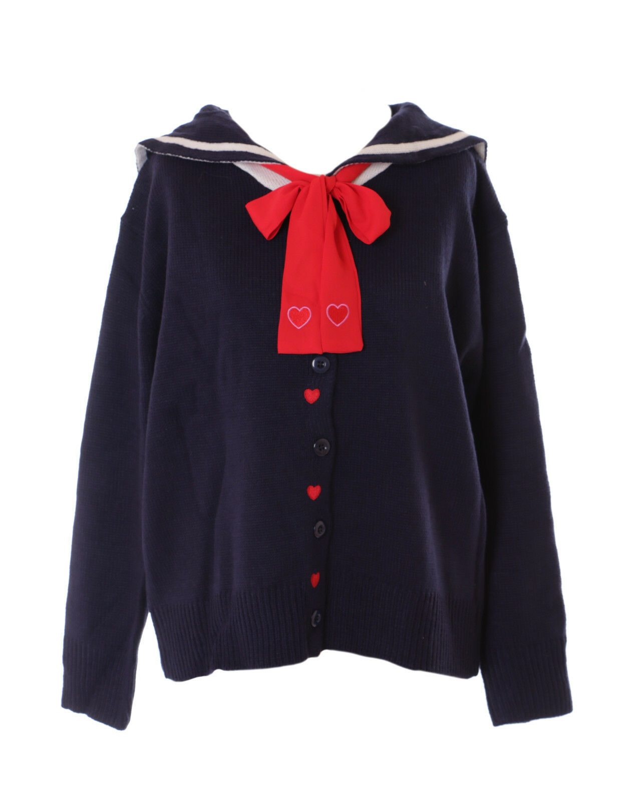 Ts-136-2 bluee Sailor Heart Pastel Goth Lolita Knitted Sweater Cardigan