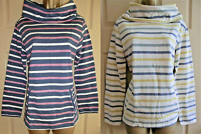 SEASALT ORGANIC COTTON navy or cream striped Boslowick Sweatshirt sizes 8 to 20