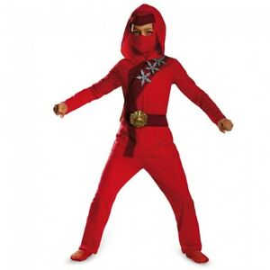 Details About Disguise Shadow Ninjau0027s Uprising Red Fire Ninja Classic  Halloween Costume 72321