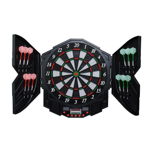 PERFORMANZ® LCD Display Electronic Dart Dartboard Soft Set w/ 12 Soft Dartboard Tip Darts 7479c4