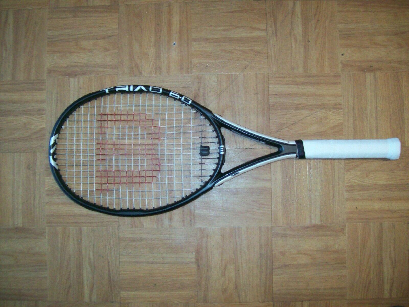 Wilson Triad Pro Staff 6.0 Midplus  95 4 3 8 Grip Tenis Raqueta  respuestas rápidas