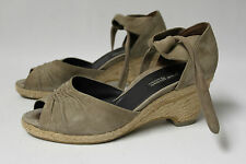 Paul Green Sandalen Wedges Keil Schuhe Leder Echtleder Damen Gr. 38,5 39 UK 5,5