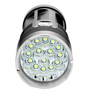 1-50000LM-14-x-Cree-Xm-l-T6-LED-Taschenlampe-Fackel-4x-18650-Jagd-Laternen