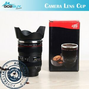 a8e604f36e9 DSLR 24-105mm Camera Lens Cup Stainless Steel Coffee Tea Mug 400ML ...