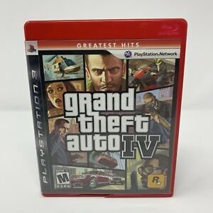 Grand Theft Auto IV 4 PlayStation 3 PS3 Game Complete With Manual & Map Tested