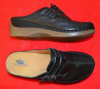Shoes Mules Black Leather 37 EUR 6.5