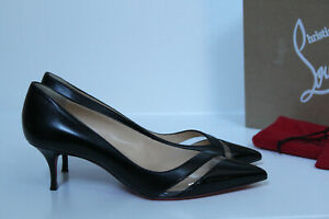 best service dc26e a6995 Details about New 6 / 36 Christian Louboutin Black Leather 17th Floor  Pointy Toe Pump Shoes