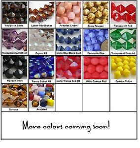 6mm-Bicone-Czech-Glass-Beads-25-Choose-Color