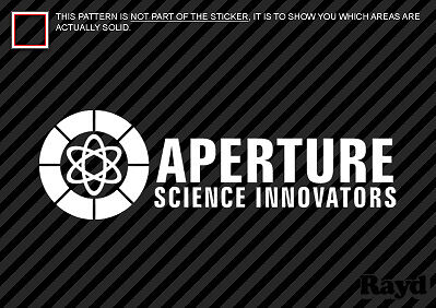 Aperture Science Innovators Sticker Decal portal 2x