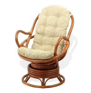 Image Is Loading Swivel Rocking Java Chair Eco Handmade Wiker Rattan