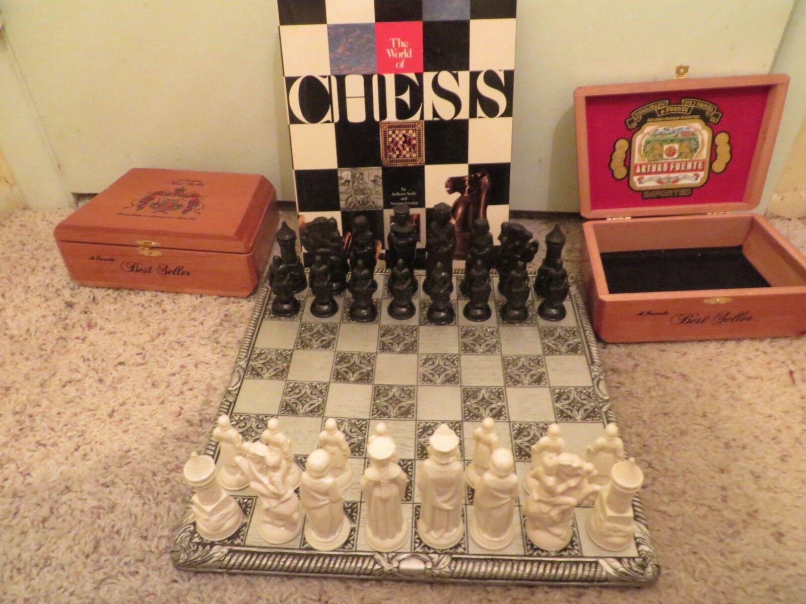 Vintage Allan Troy juego de ajedrez-Studio Anne Cocheleton Board E.S. Lowe Anri Set Libro