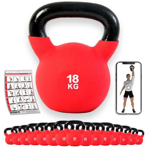 Workout I Kugelhantel Kettlebell 2-30kg mit hochwertiger Neoprenhülle inkl