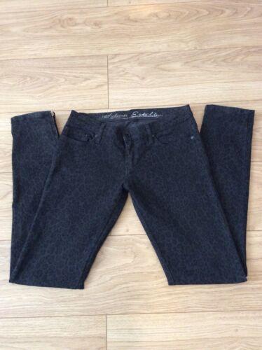 8 Stretch 31l Uk Rise All Zip Low 27 Saints Estelle 10 Grey Skinny Leopard Jeans WFvxfZCH
