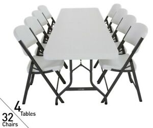 Magnificent Details About 4 Lifetime Folding Tables 32 Chairs 80147 Bulk Pack Commercial Indoor Outdoor Forskolin Free Trial Chair Design Images Forskolin Free Trialorg