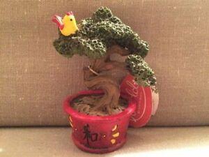 New Miniworld Fairy Garden Bonzai Tree W Bird Miniature Statue Bonsai Zen Ebay