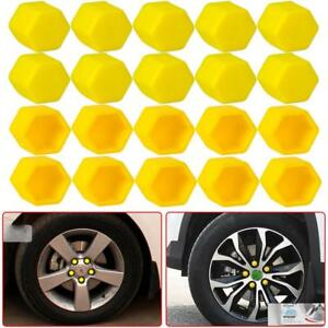 20Pcs Yellow Car Wheel Nut Lug Dust Cover Cap Protector Tyre Bolt Hub Screw Cap