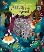 Peek Inside Beauty and the Beast Usborne Fairy Tale, NEW Book