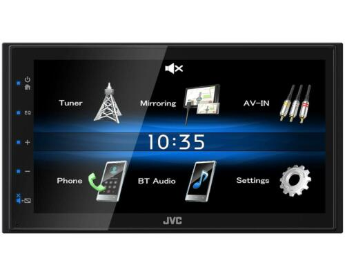 JVC KW-M25BT Double Din Car Stereo FM AUX USB iPod//iPhone Bluetooth Touch Screen