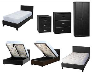 Faux Leather Bedroom Set - Bedroom design ideas