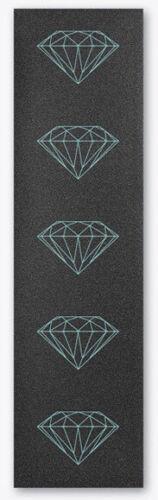 Diamond Skateboard Grip Tape Sheet 9 x 33 Brilliant Blue