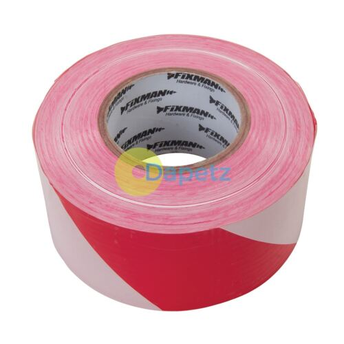 70mm X 500M Red//White Safety For Marking Out Hazardous Areas Barrier Tape