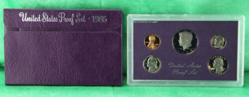 1985 S United States Mint Annual 5 Coin Proof Set with Original Box