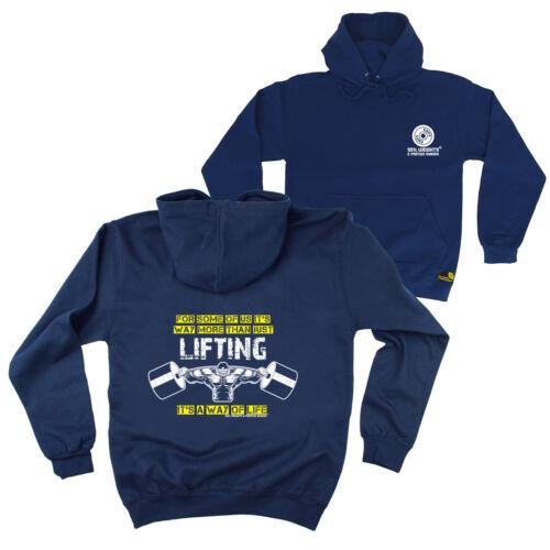 Novelty Birthday Hoody Jumper FB Gym Bodybuilding Hoodie Lifting Way Of Life