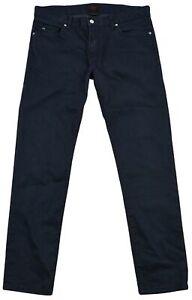 J-Lindeberg-Geai-pour-Hommes-Habille-Bleu-Etroit-Conique-Jeans-Taille-34-32