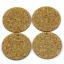 "10 GOLD Glitter Circle Keychain Blanks 2/"" Laser Cut Acrylic Blanks Disc Lca0539"