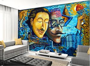 Papel Pintado Mural De Vellón Cómics Estrella De Ciudad 2 Paisaje Fondo Pansize