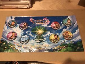 Details about Dragon Quest 11 XI Button Pin Set 8 Piece Pre-Order Bonus NEW  DQXI Gamestop