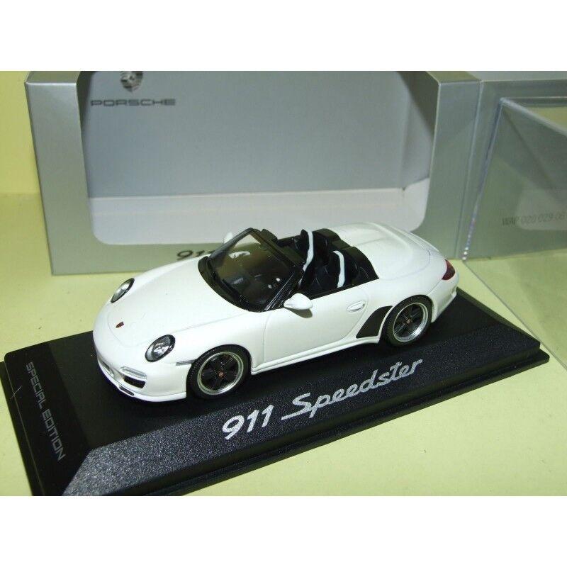 PORSCHE 911 SPEEDSTER 997 II 2010 Blanc MINICHAMPS 1 43 Boitage Porsche