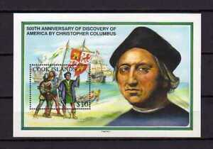 16412) Cook Isl. MNH New 1992 Discovery Of America S/S Columbus