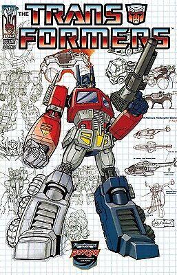 Transformers #0 Botcon Optimus Prime Exclusive Schematic Variant