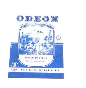 KöStlich Im Geschmack Einfach Odeon Neuerscheinungs Katalog Feb /2 1952 k146