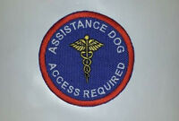 Royal Embroidered Sew-on Patch- Assistance Dog Access Required Medical Emblem