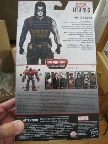 """Marvel Légendes d/'hiver de 6/"""" soldat en main Scellé Nouveau Crimson Dynamo Black Widow"""