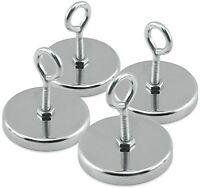Master Magnetics Rb50ebx4 Magnetic Hook, Round Base Magnet Fastener With Eyebolt on sale