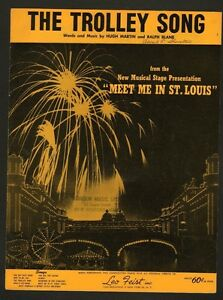 Trolley-Song-1960-Stage-Version-of-Meet-Me-In-St-Louis-Sheet-Music