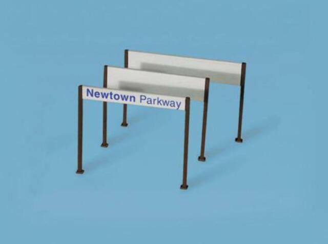882b9657790f PECO 5186 4x N Gauge Station Name Boards - Modern for sale online