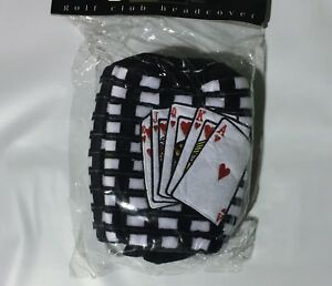 CHILIWEAR-POKER-CARDS-DRIVER-HEAD-COVER-NEW-GOLF-HEADCOVER